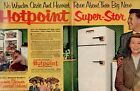 1953 2PG ORIG HOTPOINT REFRIGERATOR MAGAZINE AD FEATURE OZZIE & HARRIET FAMILY