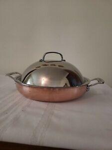 """Cuisinart 12"""" Copper Tri-Ply Braiser w High Dome Cover-Chef's Catalogue XCLUSV"""