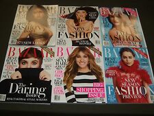 2015 HARPER'S BAZAAR MAGAZINE LOT OF 9 ISSUES - FASHION COVERS + ADS - O 919