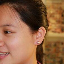 Earrings Silver Cultured Purple Fresh Water Pearl Clips on Fashionable Beautiful