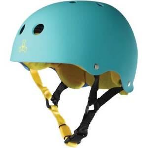 Triple 8 Sweatsaver Helmet - Teal Rubber/Yellow