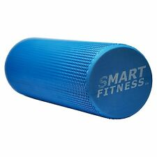 Textured Grid FOAM ROLLER EVA Yoga Pilates Exercise Roller Physio Massage BLUE