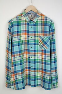 TIMBERLAND A148P SLIM FIT Men's XX LARGE Linen Blend Checked Shirt 38417_GS