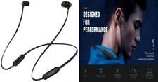 MoKo Bluetooth Headphones, Wireless Neckband Headset w/Mic & Siri IPX5 Black