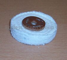 "3"" Stitched Cotton Buffing Wheel 75 x 13mm Polishing Mop ideal for drill   C75/1"