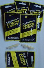 Grauvell Chemi Light détecteur de touche à clipser surfcatsing bateau 12 pièces
