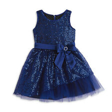 American Girl Blue Sparkle Happy Holiday Dress For Girls 7 NWOT