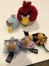 angry birds plush lot Set 5, 3 Are Bean Bag Style