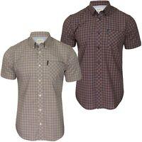 Ben Sherman Mens Shirt 'Mini Gingham' - Short Sleeved