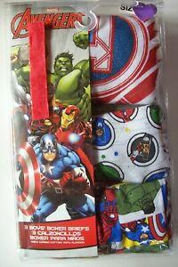 Avengers Underwear Underpants Boys 2 Boxer Briefs Knit Boxer 3 5 Briefs 4 6 8