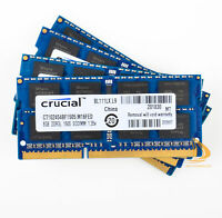 Crucial 4x 8GB 2Rx8 PC3L-12800S DDR3L 1600Mhz SODIMM RAM Laptop Memory Intel $WE