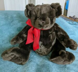 Bearington Collection Dark Brown Plush Bear Toy Stuffed
