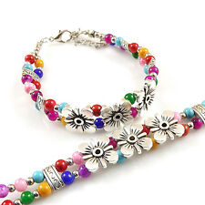 NEW Fashion Silver Bracelet Free Shipping Jewelry jade Bead Bracelet Gift S231D