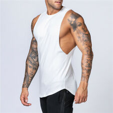 Gimnasio Camiseta sin mangas Chaleco Músculo Culturismo Fitness para Hombres de Algodón Sin Mangas Chaleco workouk