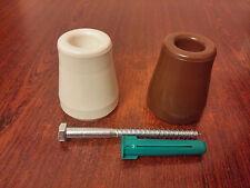 Brown or White Rubber Door Stop Stopper Floor Holder