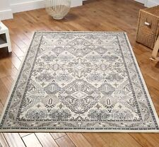 Traditional Fade Cream / Grey-Beige Egyptian Soft Woven Pattern Rugs 120x180cm