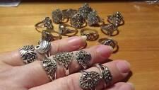 Tibetan Silver Ring, Vintage Look Xmas Gift, Wedding Favours, organza bag inc
