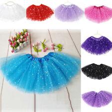 Ballett Rock 7 Farbe 4-7Y Tütü Ballettrock Petticoat Tüllrock Ballettkleid