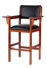Level Best Billiard Pool Spectator Chair- Oak, Mahogany, Chestnut, Maple Finish