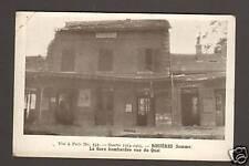 ROSIERES (80) LA GARE & QUAIS Bombardés 1914-15