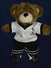 "16"" stuffed Build-A-Bear plush SOCCER PLAYER Bear w/outfit & kleets"