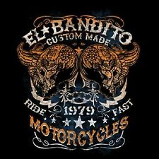 EL BANDITO CUSTOM MOTORCYCLES WORK SHIRT DICKIES SKULLS