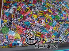 PELLICOLA WRAPPING STICKER BOMB  Kimera Design 50cm X 30cm