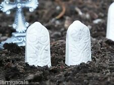 Premium Tombstone Miniatures (2) Vintage Style 1/24 Scale G Scale Diorama Items