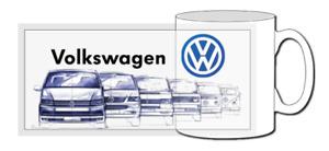 VW transporter mug, pop icon, T4, T2, camper, T5, T2.5, evo, gti, tdi, t6, vw