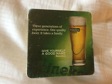 """Heineken Beer Coasters 4""""  50 Pack 2010 Give Yourself A Good Name Sealed"""