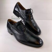Magnanni Mens Oxford Dress Shoes Black Leather Lace Up Almond Cap Toe Formal 8 M