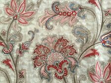 Mainstays Jacobean pink/red Floral Fabric Shower Curtain,EUC
