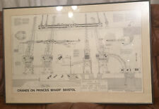 Cranes On Princes Wharf Bristol Architect Drawing,The Ultimate M Shed Souvenir
