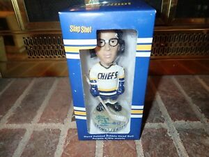 SLAP SHOT MOVIE SIGNED STEVE CARLSON BOBBLEHEAD HANSON BROTHERS AUTOGRAPHED