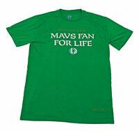 Dallas Mavericks Green Irish For A Day Fan For Life T Shirt XL