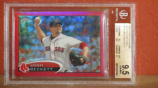 2012 Topps Chrome Josh Beckett Red Refractor Card BGS 9.5