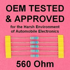 NEW Power Resistor 560 ohm 1W 20% Axial Lead OEM Approved for Harsh Environments