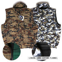 Men's Cargo Camo Vest Zip-up With 9 Pockets Hunting Tactical Oscar Sports