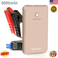 8000mAh Portable Jump Starter Car Battery Charger Booster Power Bank Station US