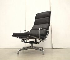 Herman MILLER EA222 Soft PAD LOUNGE Chair SESSEL // Charles EAMES Leder BRAUN