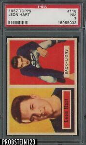 1957 Topps Football #118 Leon Hart Detroit Lions PSA 7 NM