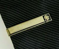 Vintage Tie Clip Bar Roman Warrior Spartan Goldtone Mens Jewelry