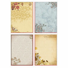 10X Vintage Flower Frame Printing Letter Paper Writing Sheets Pad Stationery