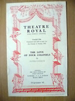 Theatre Royal Bristol Programme 1952- THE LOVE OF FOUR COLONELS by Peter Ustinov