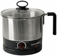 Durable 1 Liter Electric Ramen Cooker & Egg Boiler w/ Adjustable Temp Control