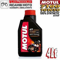4 LITRI LT OLIO MOTORE MOTO MOTUL 7100 4T 10W50 100% SINTETICO ESTER MA2