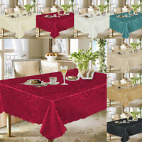 Damask Jacquard Floral Table Cover Cloth Napkin Rectangle&Round Runner Tableware