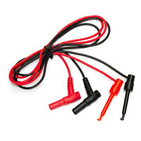 6pcs Banana Plug to Alligator Clip Multimeter Test Leads Wire Cable Double Ended