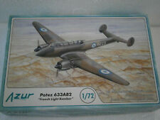 MAQUETTE AZUR No.A85 AVION POTEZ 633AB2 FRENCH BOMBER 1/72 - 1.72eme