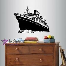 Vinyl Decal Ocean Liner Cruise Ship Boat Vacation Tourism Agency Sticker 1561